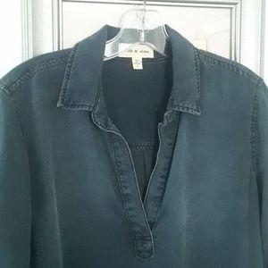 Cloth and stone dark wash dress